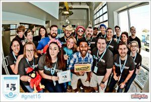 Gadellnet has an amazing company culture - happy Gadellnet employees celebrating 15 years