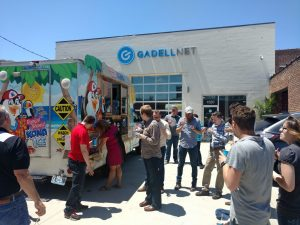 Gadellnet IT Solutions team in St. Louis having a company party with Kona Ice
