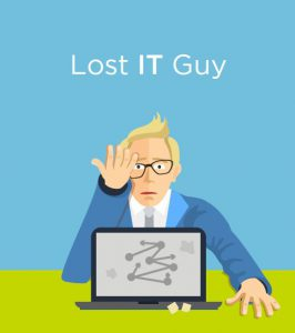 Lost IT guy image your it pain