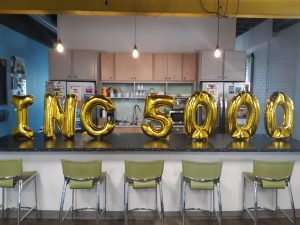 Gadellnet celebrating making it into the Inc 5000 fastest growing companies