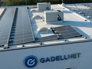 Solar panels on the Gadellnet offices in St. Louis Missouri