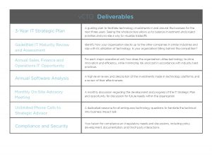 vCTO Deliverables at Gadellnet Managed IT Services & Solutions in St. Louis and Indianapolis
